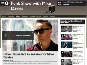 BBC1 Punk Show with Mike Davies